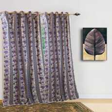 Set of 2 Pcs Luxury Bedroom Curtains cotton (purple colour