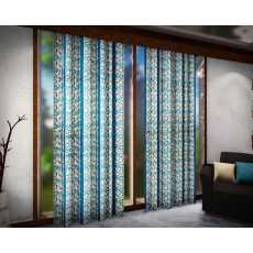 Pair Of Cotton Jacquard Curtain