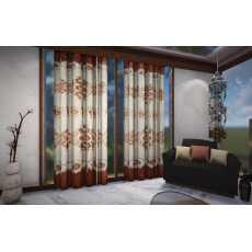 Pair Of Shesha silk printed  Curtain