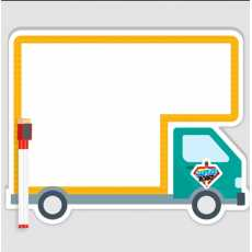 """""""Loader Bus""""  Style White Board  Both Sided With Marker & Eraser  9.85 x 12.5"""""""