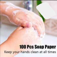 Traveling Paper Soap 100 Pcs