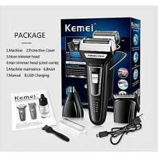 Km-6558 3 In 1, Shaving Machine, Hair Trimmer And Clipper, Shaver For Men,...