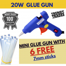 20w Imported Brand New Hot Glue Gun Small / Imported Glue Gun With 6 Plain...