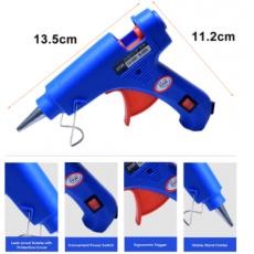 20W Glue Gun Professional Hot Melt GlueGun With On Off Button With 6 Glue Sticks