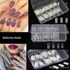 Pack Of 100 - Transparent Manicure Bridal Artificial Nails Set