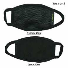 Pack Of 2 Anti Dust Face, Mouth & Nose Mask - Black