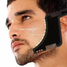 8 in 1 Beard Shaping Styling Tool with Inbuilt Comb for Perfect Line up...