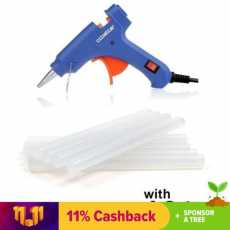 Small glue gune  with 5-Glue Sticks Bundle - Blue