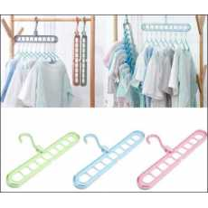 Pack of 3 Super Magic Changeable Clothes Pluto Plastic Hanger Space Saving...