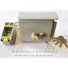 """ Electric "" Main Gate Lock Heavy Duty High Security Double Cylinders 5 Brass..."