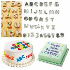 Pack of 26 Pcs Alphabets Letter Characters fondant Cookies cutters -...