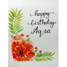 Custom Handmade Birthday Card Greeting Card Pack of 1
