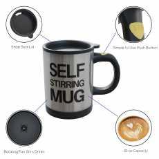 Self-Stirring Mug Electrical Gadget / Automatic Thermal Coffee Cup