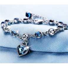 Heart Shaped Crystal Zircon Bracelet, Bracelet for girls, Bracelet for women,...