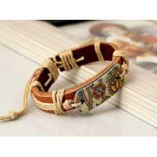 Cowhide Genuine Leather Unisex Bracelet, Bracelet for girls, Bracelet for...