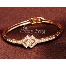 Gold Plated Square Bracelet, Bracelet for girls, Bracelet for women, Bracelet...