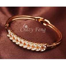 Gold Plated Petal Bracelet