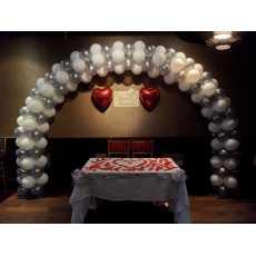 Happy Anniversary Silver theme wedding Anniversary decoration