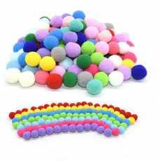 Pom Pom Fluffy Ball Arts and Craft-Multi color 10mm DIY Creative Crafts...