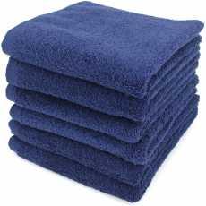 Bath Towel Dark Blue 2 Pcs