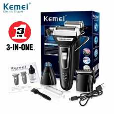 kemei rechargeable 3 in 1 electric shaver beard shaver hair trimmer electric...