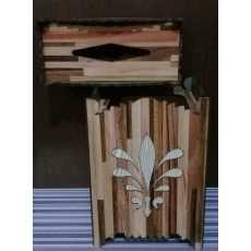 Wooden  Basket Tissue Box