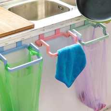 Kitchen Trash Bag Holder, Garbage bag holder, Kitchen Cabinet Hanging Trash Rack