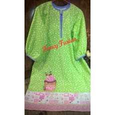 a stylish green painted kurti