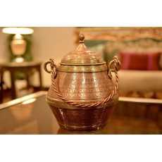 Ghalamzani Copper Ice Bucket - Centre Piece