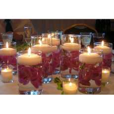 Pack of 10 Multi color Romantic Floating Candles