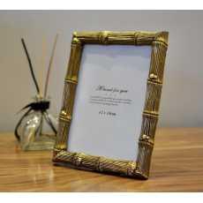 Golden Bamboo Picture Frame (13 * 18 cm)- Home/Living/Bedroom decor