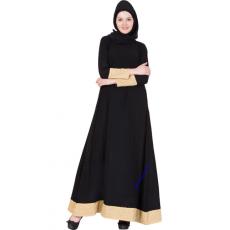 Nida Fabric Black Abaya