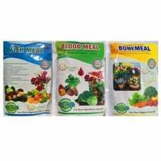 Fish, blood and bone meal organic fertilizers