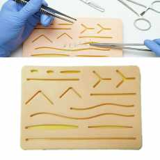 Silicone Suture Sad For Medical Students Upgraded, Refill Suture Kit For...