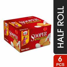 Pack of 6 Sooper Clasic Biscuit- Half Roll 65.96 gms x6