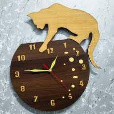 Wooden wall clock stylish design (16x16)inch