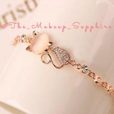 Rose Gold Cute Cat Bracelet - Stylish Bracelet for Girls - 2021 Trendy 20mm...