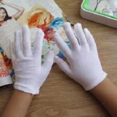 Sun Block White Cotton Gloves For Housework and Driver Safely Security Glove
