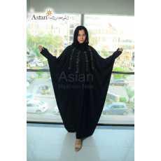 Black Hand Work Maxi Abaya