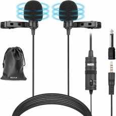 BOYA BY-M1DM Dual Lavalier Microphones
