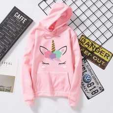 Bundle of 2 - Hoodie for Girls _unisex printed Full Sleeves Fleece fabric...
