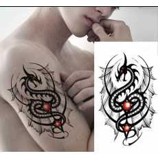 Waterproof Temporary Tattoo Sticker Dragon Body Art Arm Water Transfer Tattoo