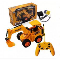 Remote Control Battery Operated JCB Crane Truck Toy