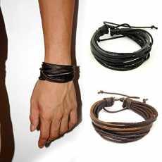 Multilayer Leather Punk Bracelet For Men