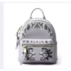 Imported Pu Leather Mini Embroidered Ladies Backpack Bag Mini Leather Small...