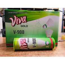 6 Pcs Of Viva Gold V-900 Nylon Shuttle Cocks for Badminton-Tournament Nylon...