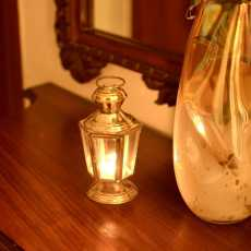 Vintage-Look Brass Candle Stand/Lantern