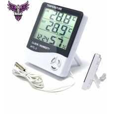 HTC-2 Thermo-hygrometer Alarm Clock Creative Home