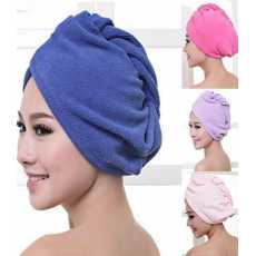 Bath Towel Hair Quick Drying Microfiber Hair Wrap Towel Drying Bath Spa Head...