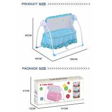 Remote Control Baby Electric Swing Jhola with Adjustable Moving Speed Light &...